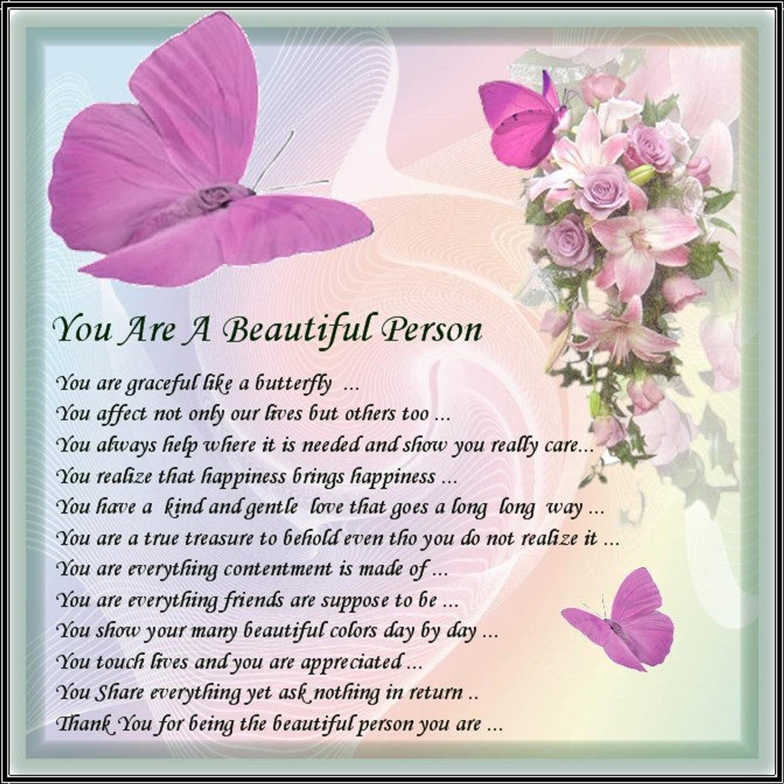 Beautifull Person Card 1