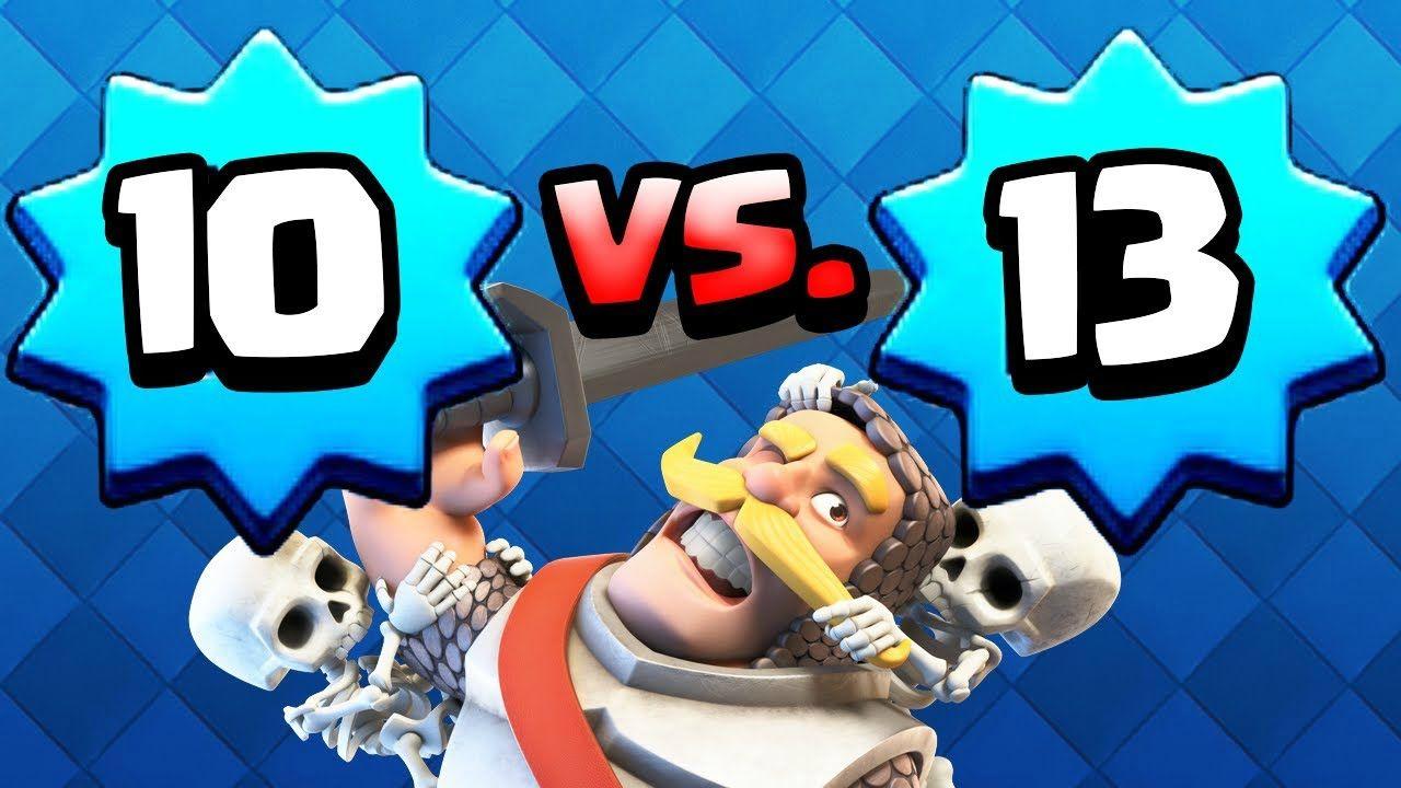 Clash royale level 10 vs level 13 omg level 10 wins