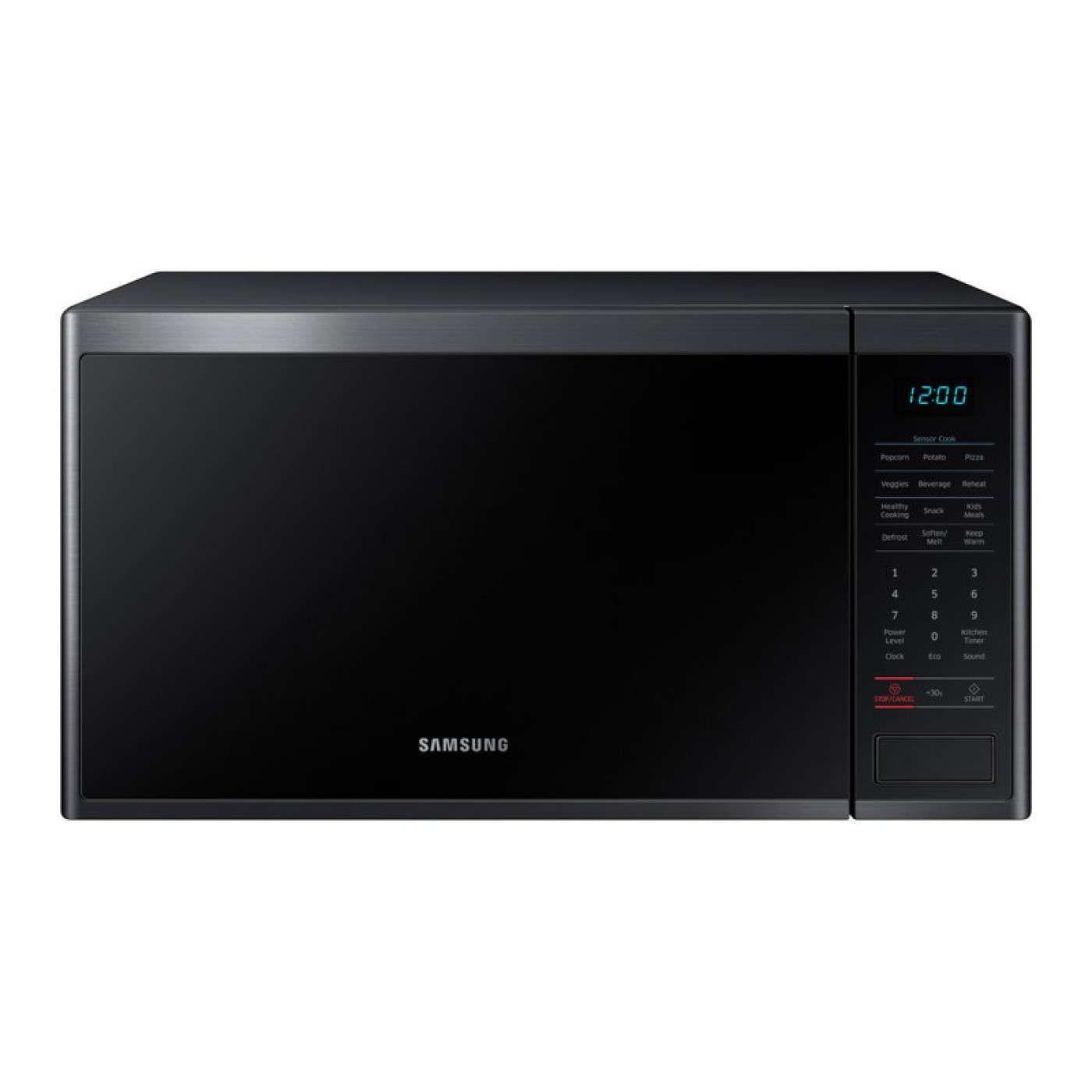 1 4 Cu Ft Black Stainless Steel Countertop Microwave