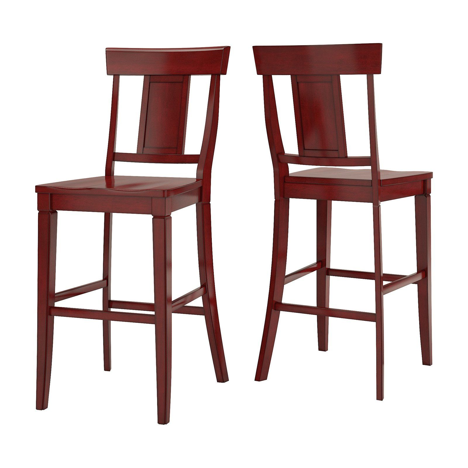 Weston Home Farmhouse Vintage Panel Back 29 In Bar Stool Set Of