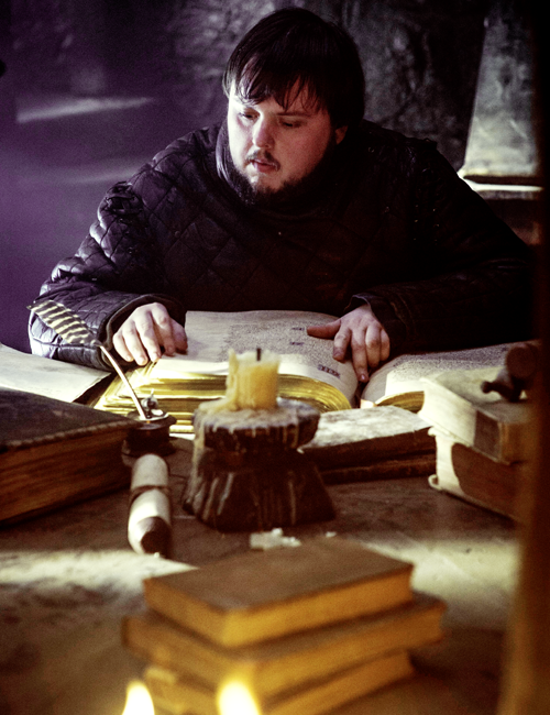 Image result for sam tarly reading