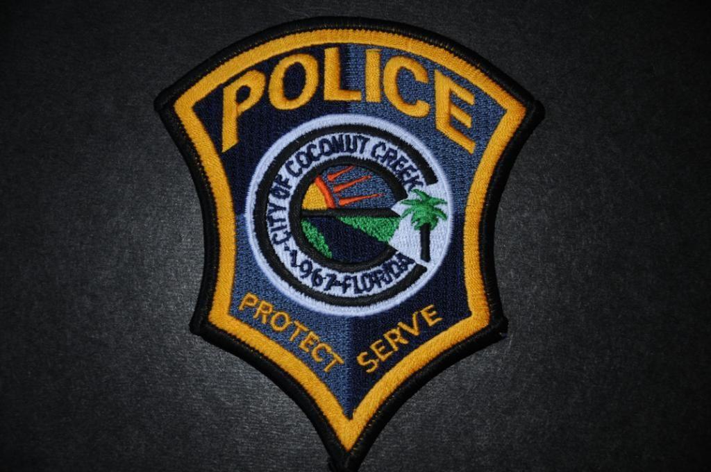 Coconut creek police patch broward county florida