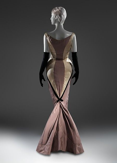 """Diamond"""" dress (image 6)   Charles James   American   1957   silk, synthetic   Brooklyn Museum Costume Collection at The Metropolitan Museum of Art   Accession Number: 2009.300.1015"""