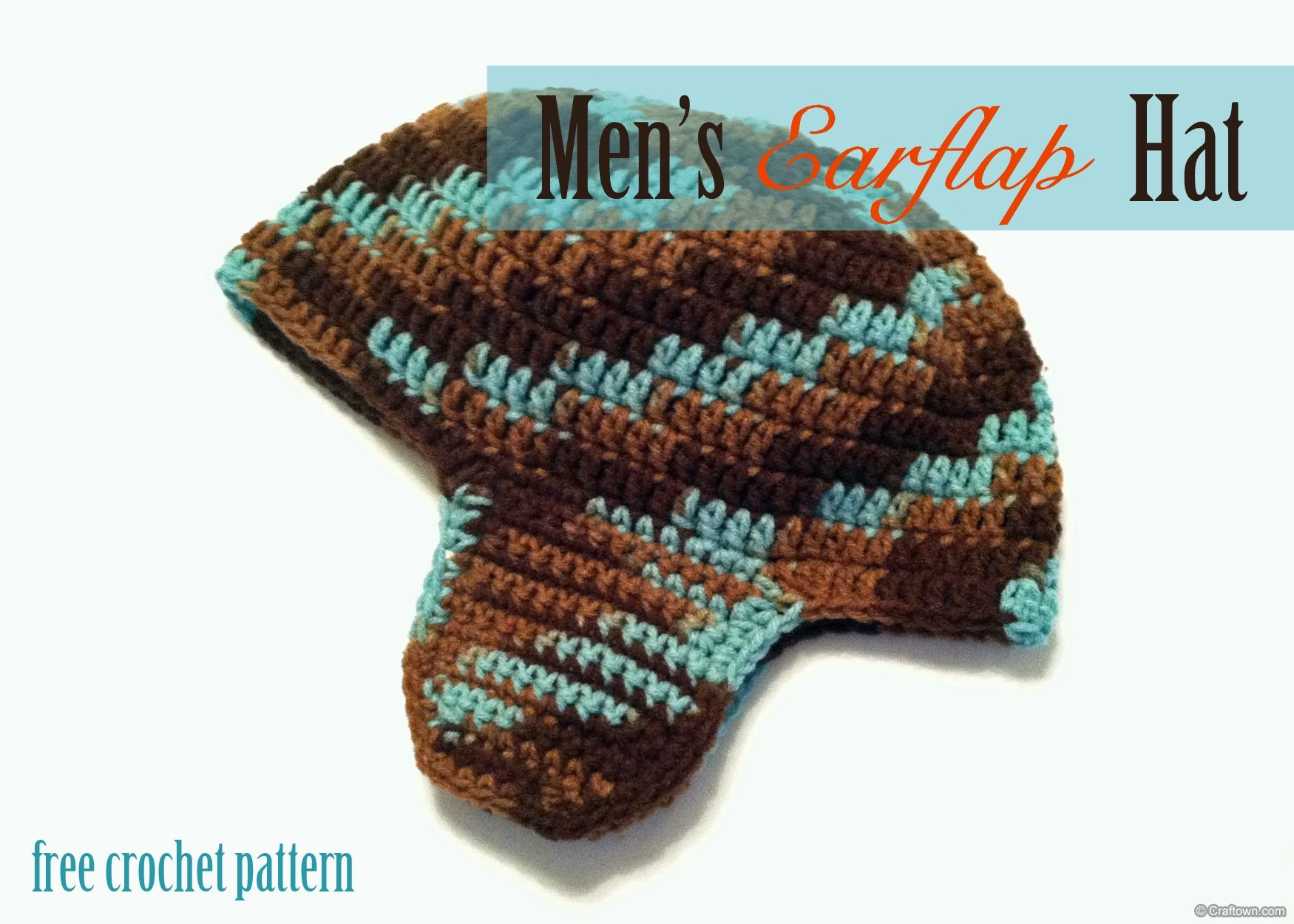 Free Crochet Pattern - Mens Earflap Hat! | Mens crochet ...