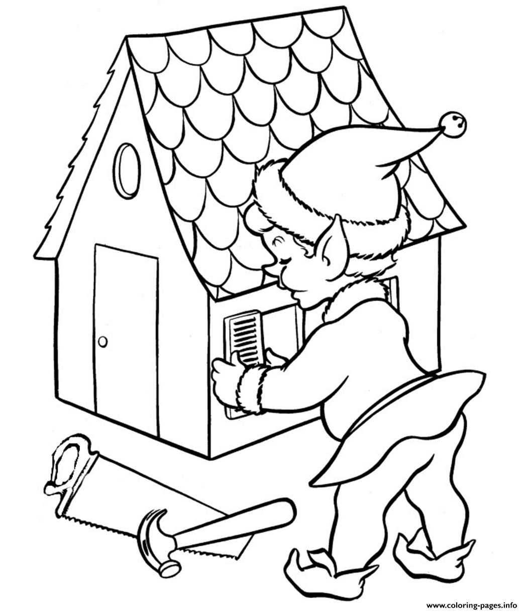Print elf free coloring christmas pagesaf coloring pages