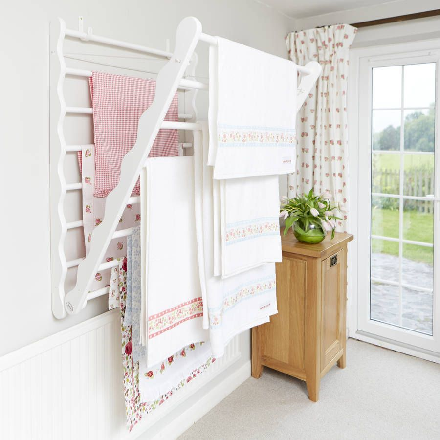 Wall Fixed Pine Laundry Drying Rack In 2019 Laundry Room