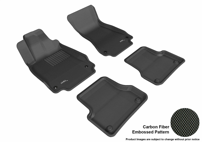 Kagu Rubber Black 3D MAXpider Third Row Custom Fit All-Weather Floor Mat for Select Audi Q7 Models