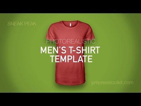 Product Sneak Peak - Mens Photorealistic T-Shirt Template Mockup