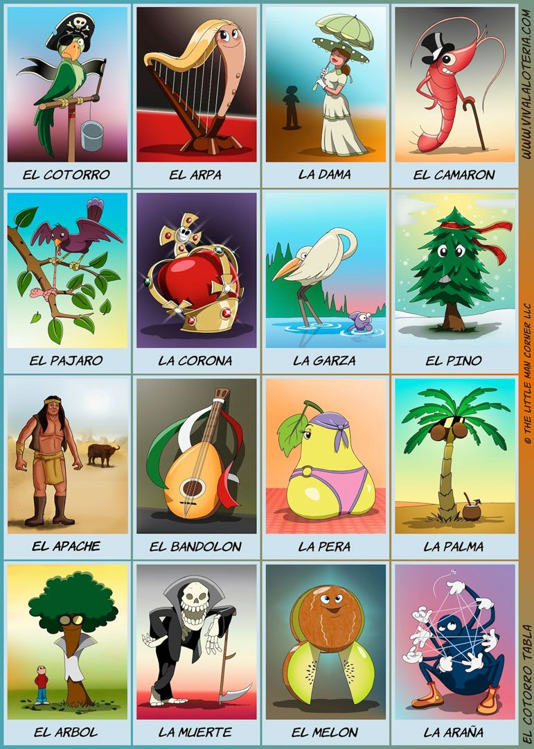 photo about Loteria Cards Printable called no cost printable mexican loteria playing cards
