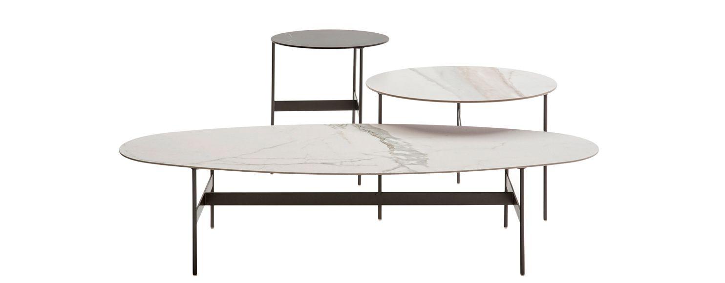 B B Formiche Coffee Table Oval Coffee Tables B B Italia