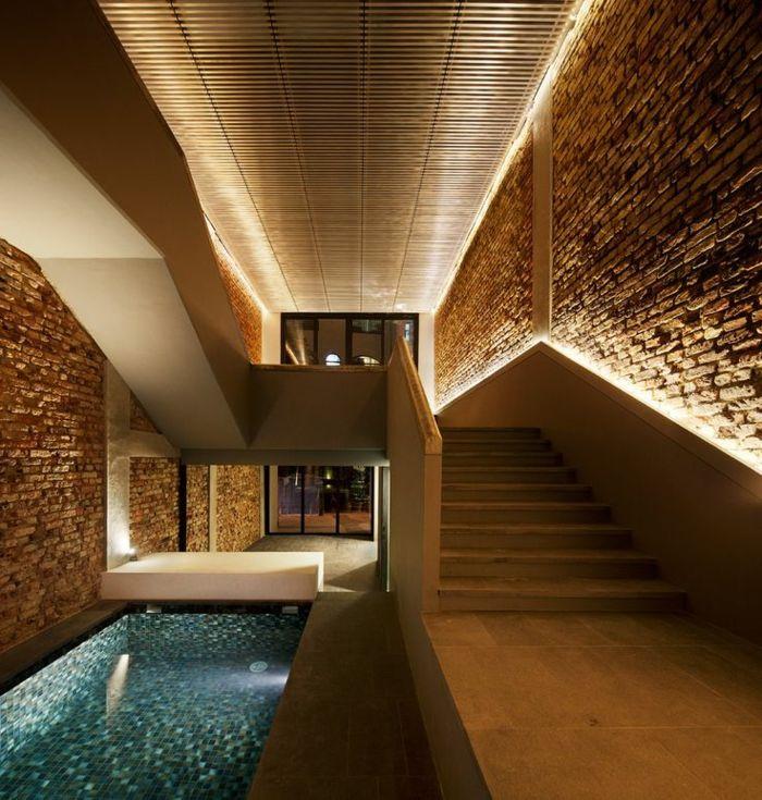 L clairage indirect 52 super id es en photos eclairage maison eclairage indirect et piscine - Luminaire escalier maison ...