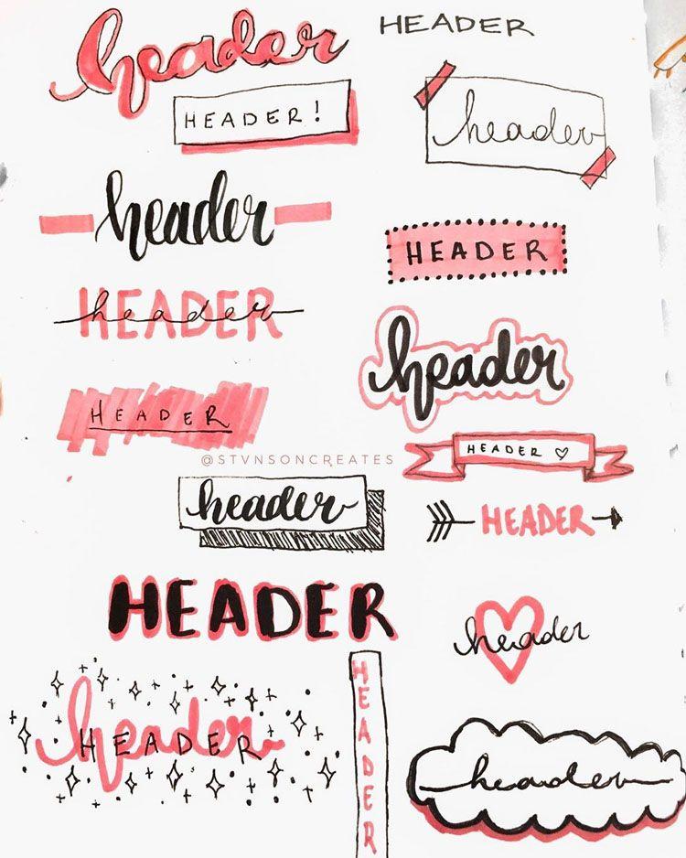 32 Bullet Journal Header and Title Ideas - Beautiful Dawn Designs
