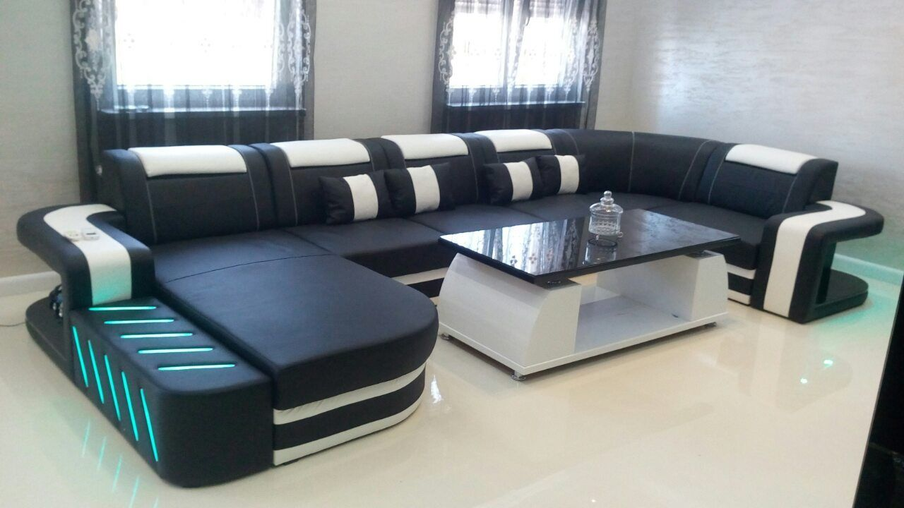 el gant et haut de gamme canap design space xxl custom chez un de nos clients satisfaits. Black Bedroom Furniture Sets. Home Design Ideas