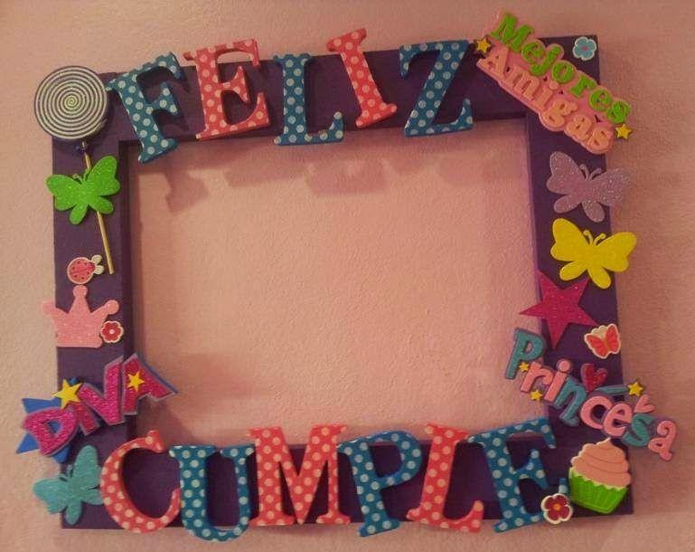 Marcos de fiestas infantiles imagui pinteres - Como decorar un marco de fotos ...
