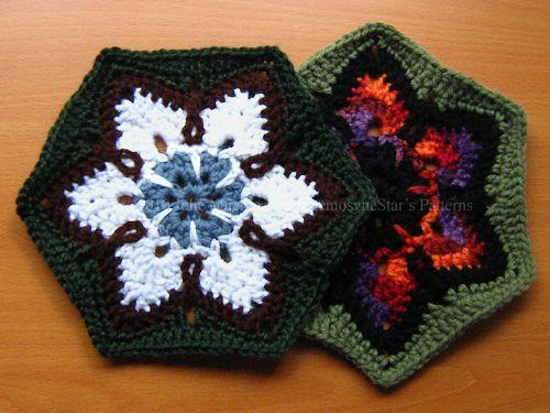 starflower hexagon pattern FREE ravelry download. So nice, thanks so for sharin' xox