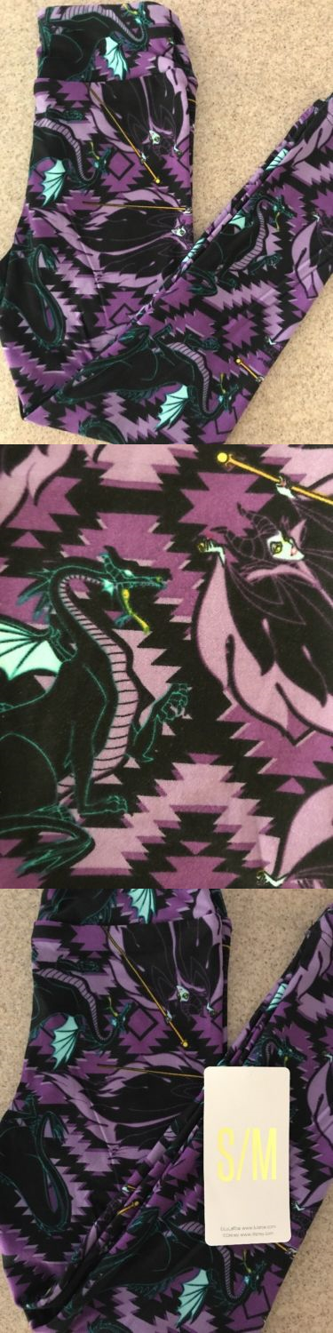 304a57a5e554f8 Pants 175654: Lularoe Maleficent Dragon! Disney Villains Kids S M Leggings  Ultra Rare! Aztec -> BUY IT NOW ONLY: $100 on eBay!