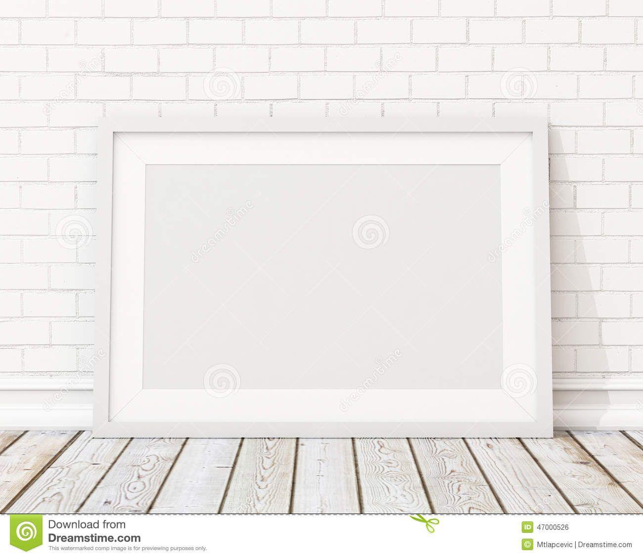 mock-up-blank-white-horizontal-picture-frame-white-brick-wall-vintage-floor-template-design-47000526.jpg (1300×1130)