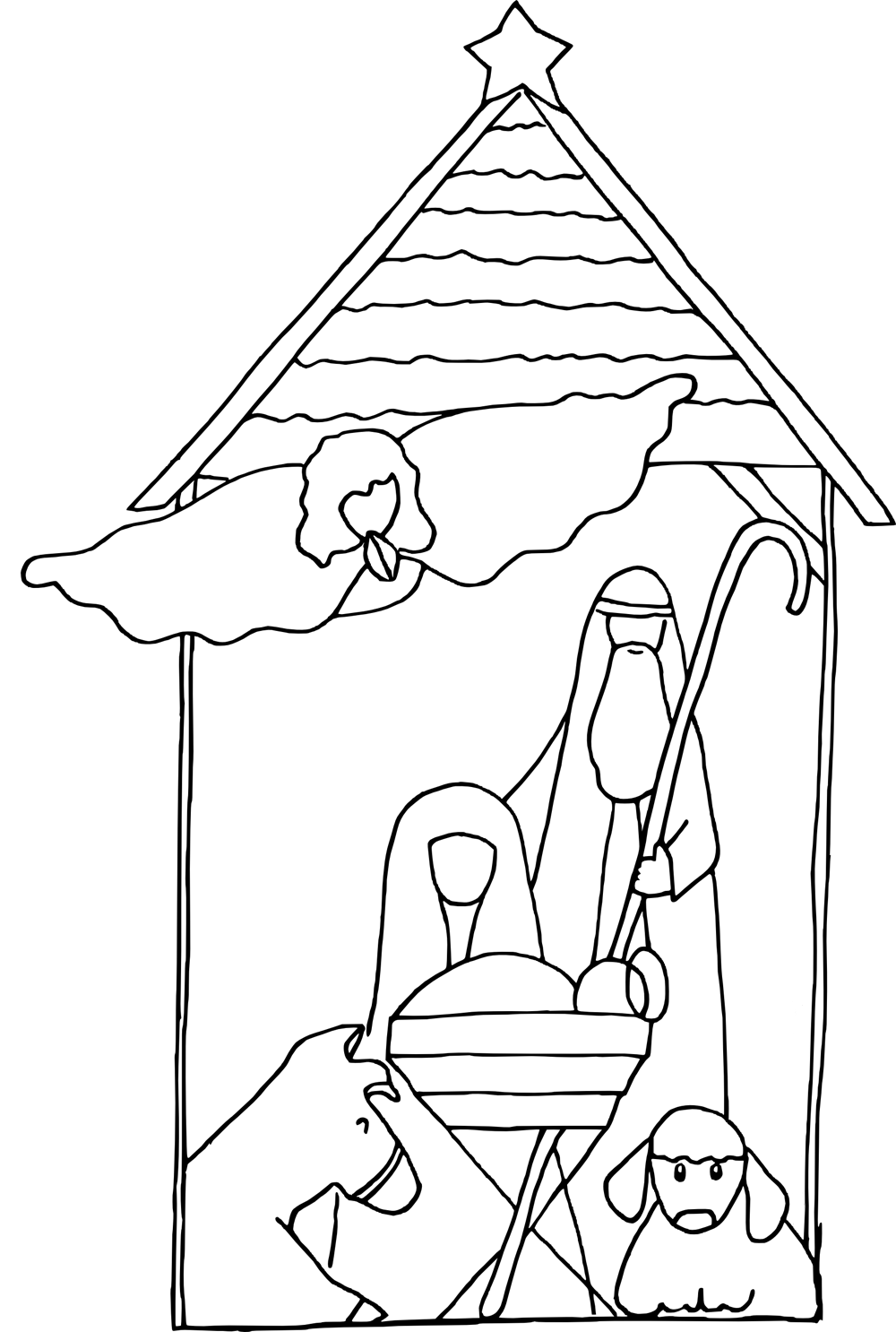 Nativity Coloring Pages Nativity coloring pages
