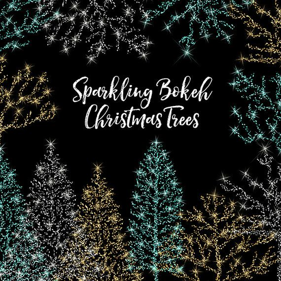 Christmas Tree Quotes: Bokeh Christmas Trees Clipart Bokeh Glitter By