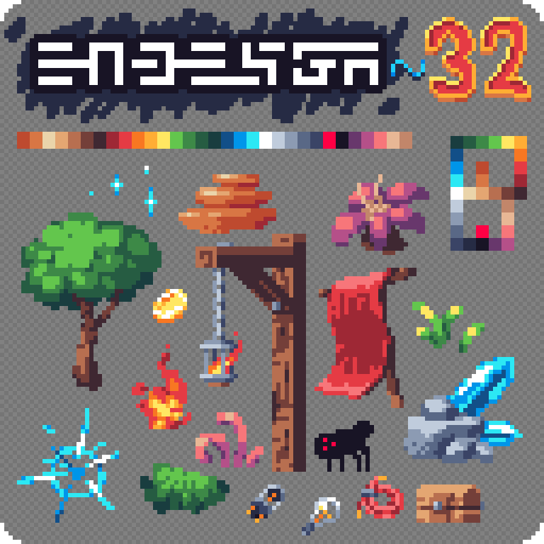 Pixel Art Character Design Tutorial : Endesga on art tutorials game and pixel games