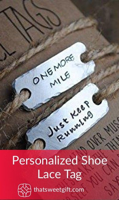Personalized Shoe Lace Tag Gift Ideas For Runners Pinterest Gifts Under 10 And Inexpensive