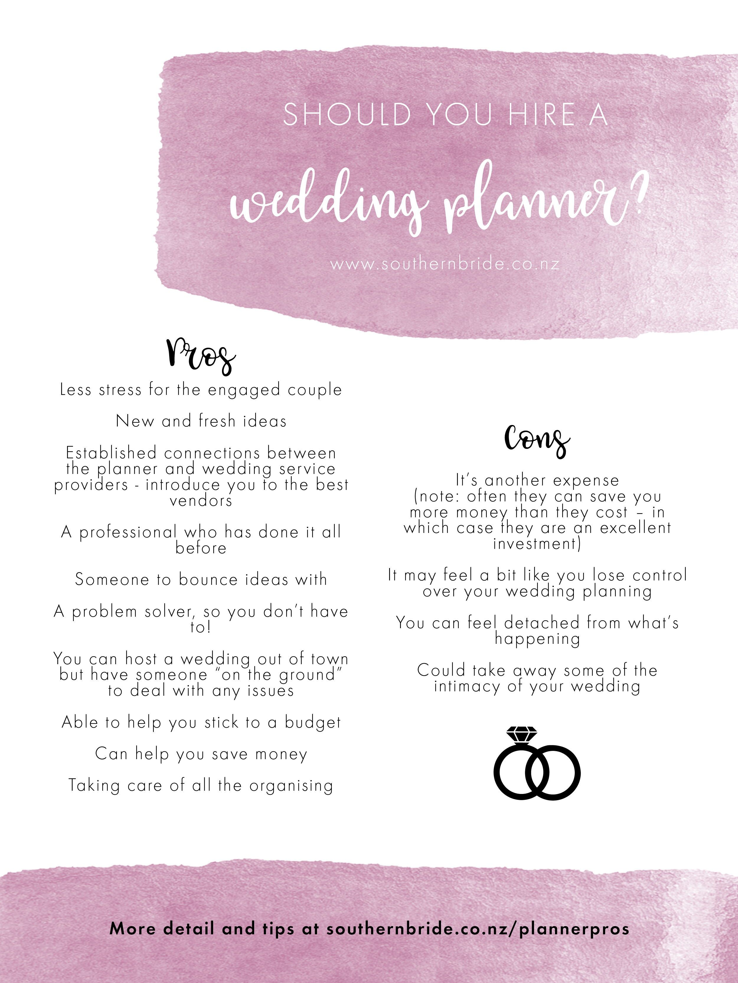 15 hiring a wedding Planner ideas