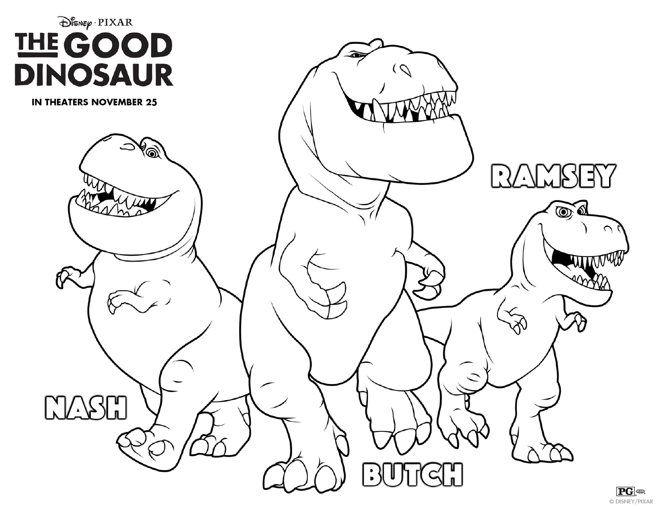 Get pumped for #GoodDino with this prehistoric coloring sheet. Meet ...