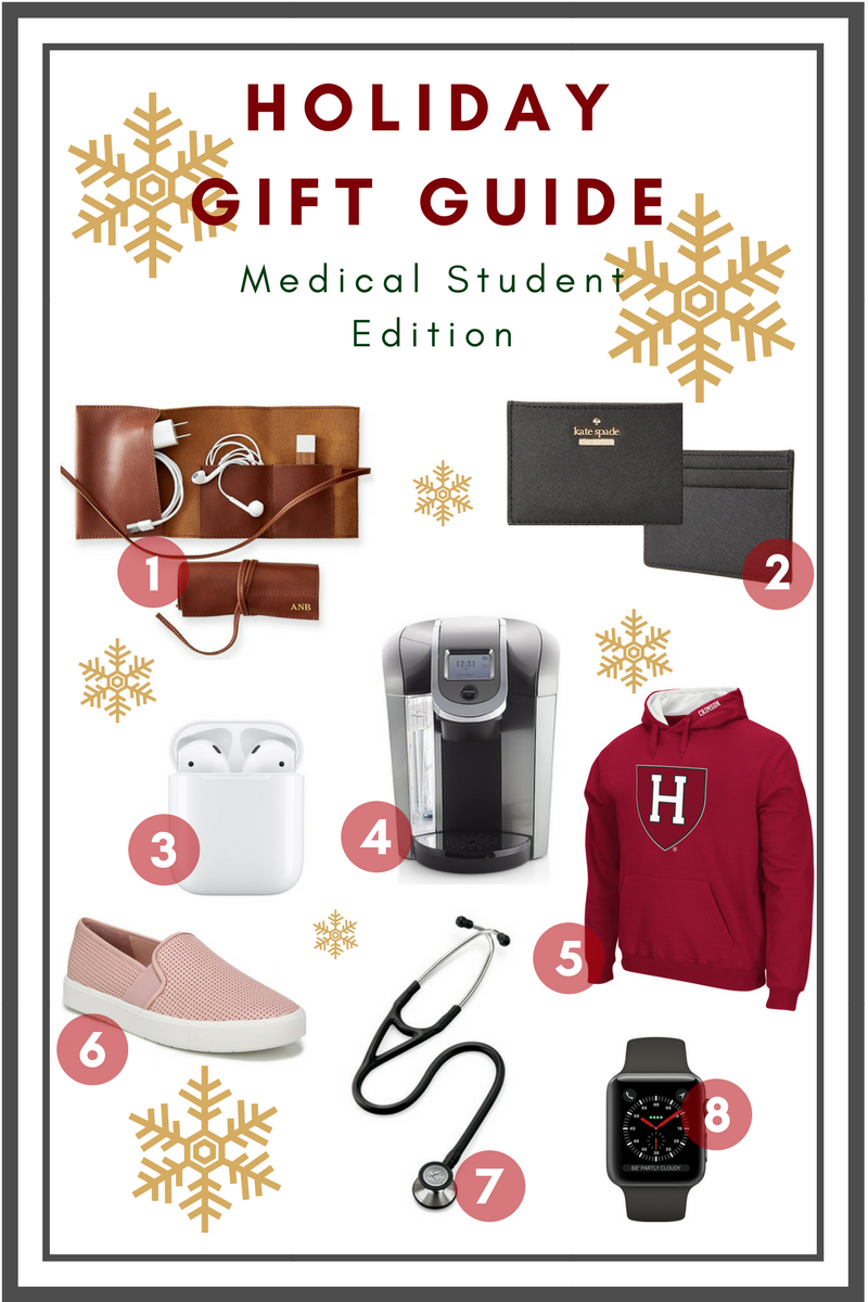Holiday Gift Guide: Medical Student Edition   medical school   MS3   medicine   premed   nursing   mcat  step 1   anatomy   microbiology   physiology   medical gifts