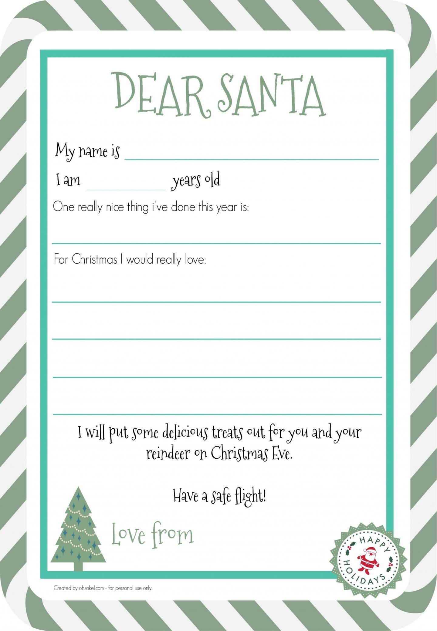 Free letter to santa printable oh so kel