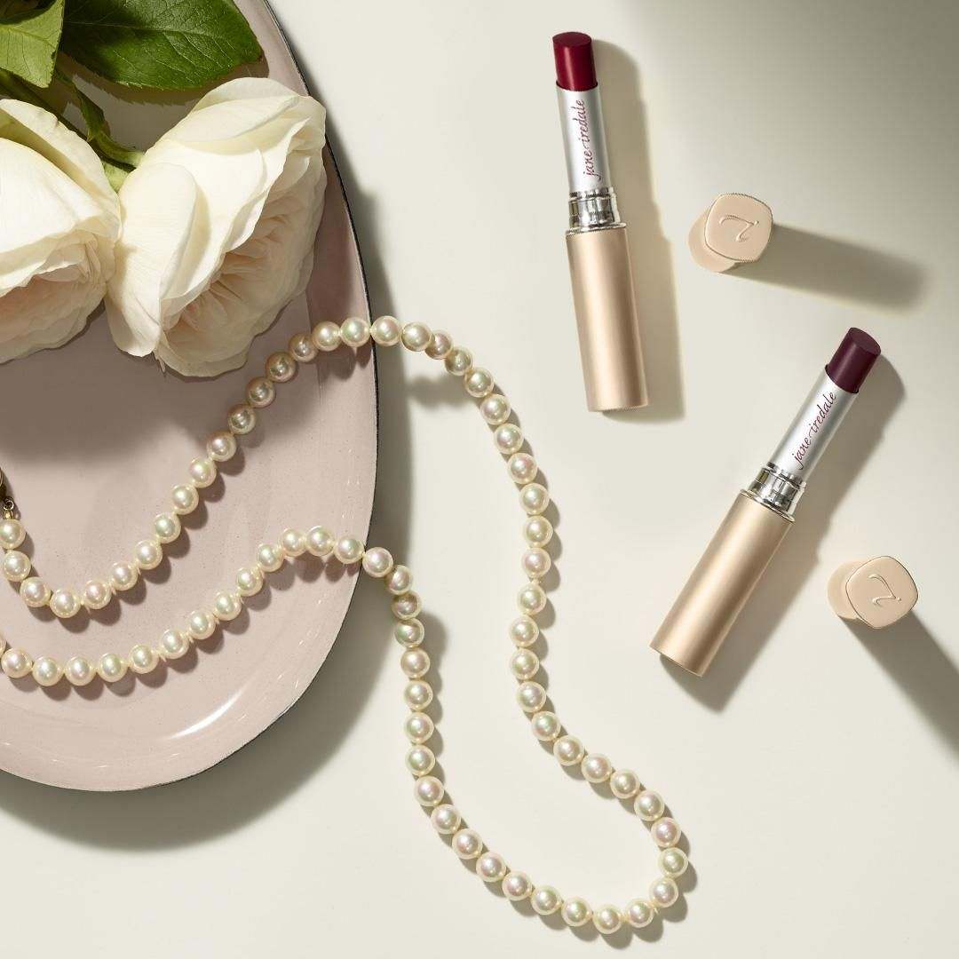 Feeling adventurous? Pair a classic string of pearls with a vampy #lipstick shade like Hannah or Annette PureMoist Lipstick.