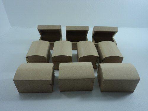 Mini Bau Em Mdf Cru Kit Com 10 Pecas Promocao R 40 00 Com