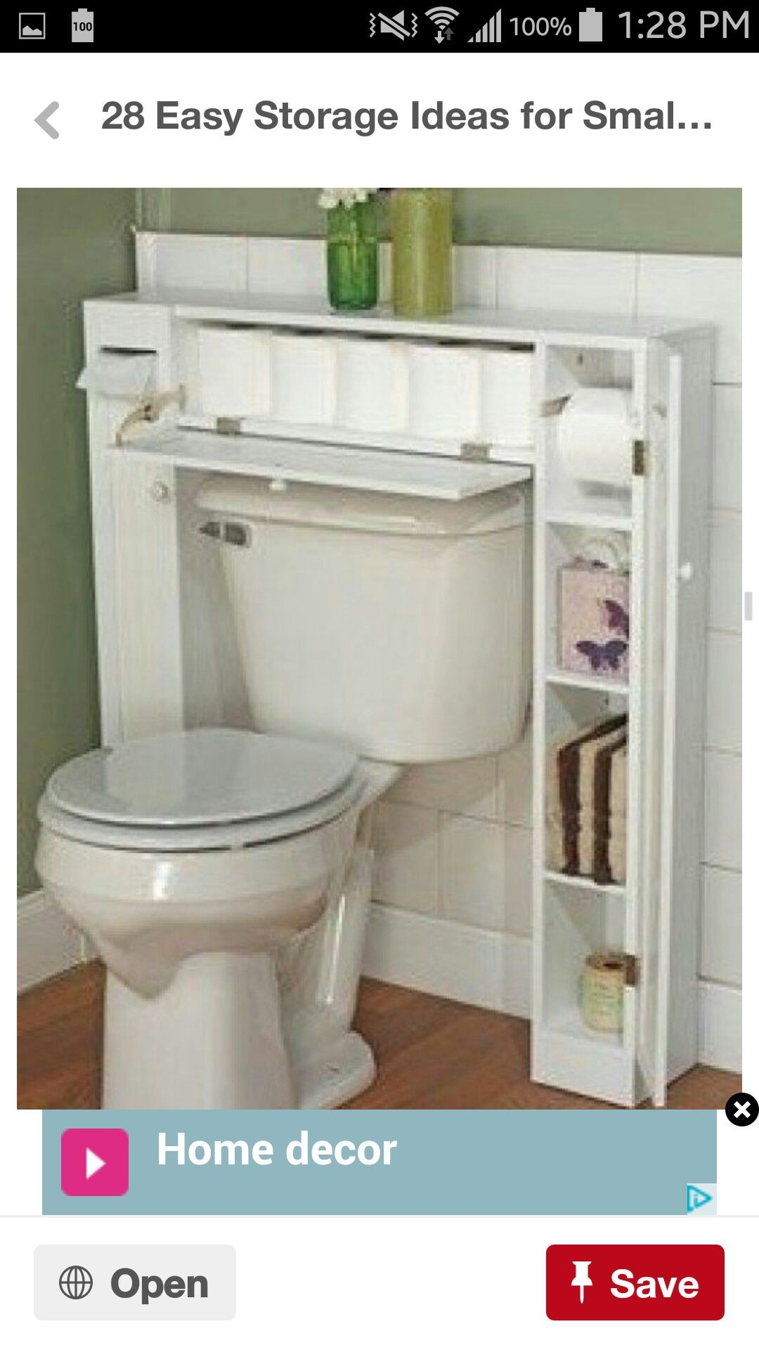 Bathroom storage over toilet - Bathroom Storage Ideas For Small Apartments Secret Drawer For Toilet Roll Click Pic For 44 Easy Organization Ideas For The Home