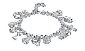 954274a84e92 Charm Bracelet with Swarovski Elements by Jewelry Elements ...