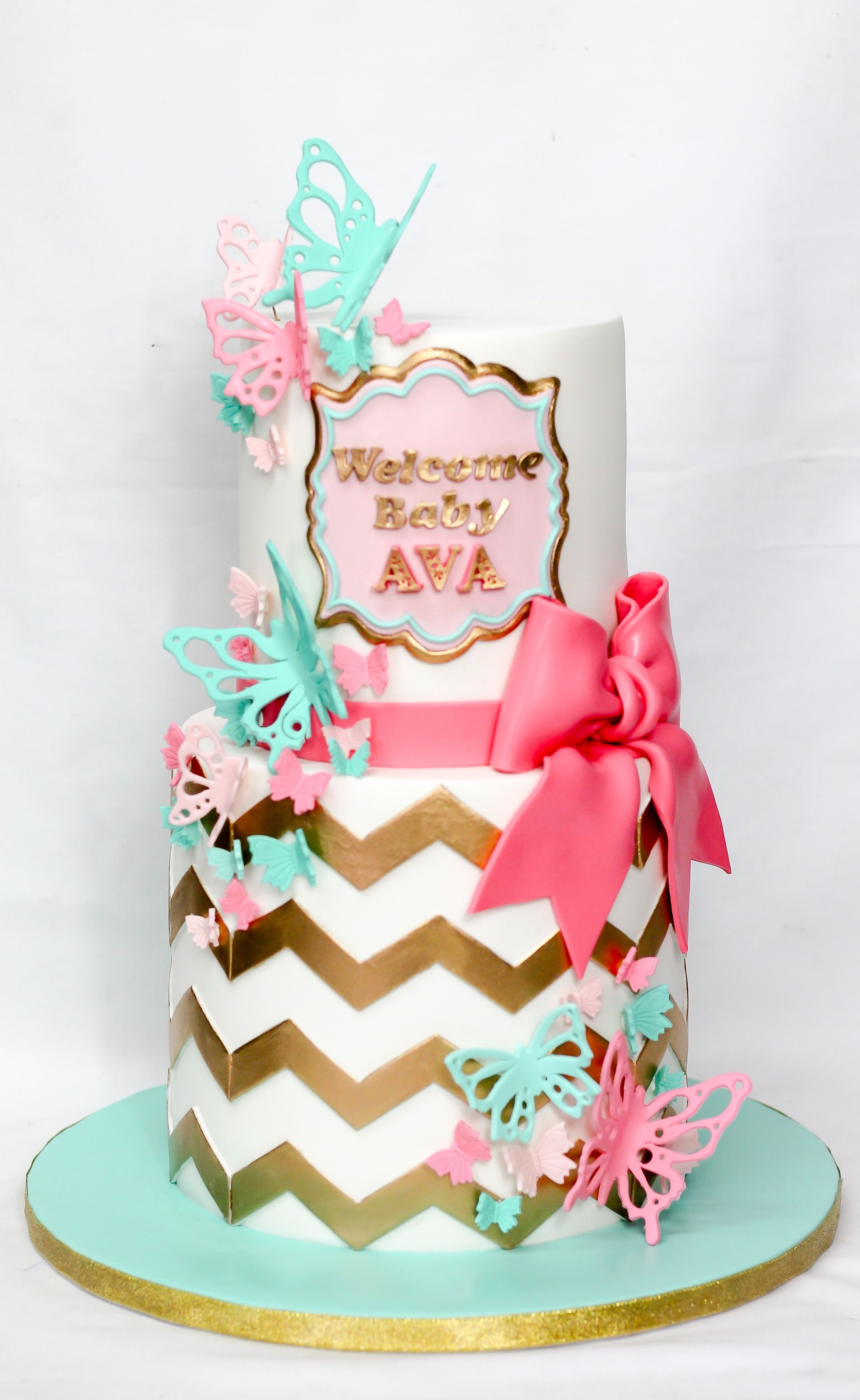 The Cake Mamas With Images Butterfly Baby Shower Cake Baby