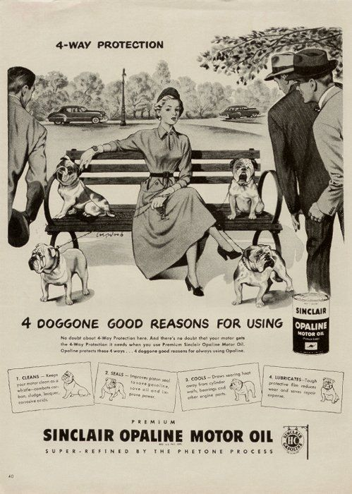 Baggy Bulldogs Bulldog, Vintage ads, Vintage advertisements