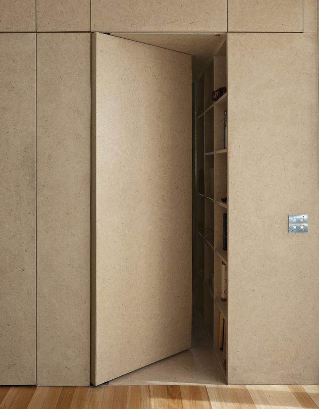 Yates Residence Concealed Door Kitchen Hidden Door Invisible Doors Plywood Interior