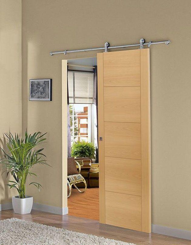 17 ideas para instalar una puerta corredera vista dise o for Instalar puerta corredera
