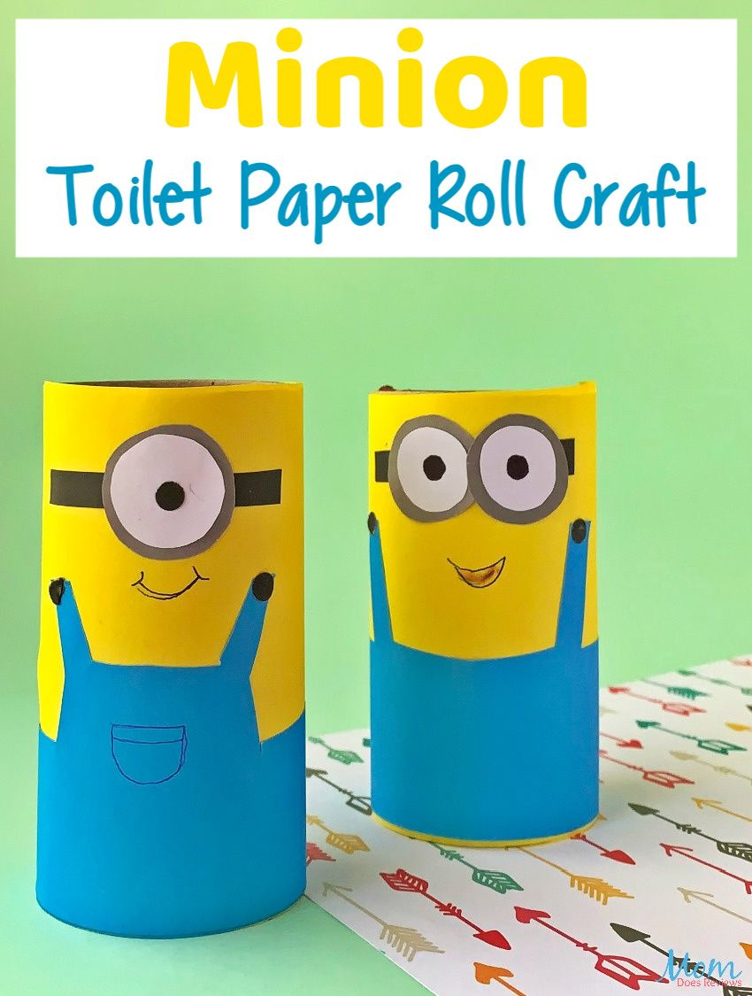 Minion Toilet Paper Roll Craft For Kids Toilet Paper Roll Crafts Paper Roll Crafts Paper Towel Roll Crafts