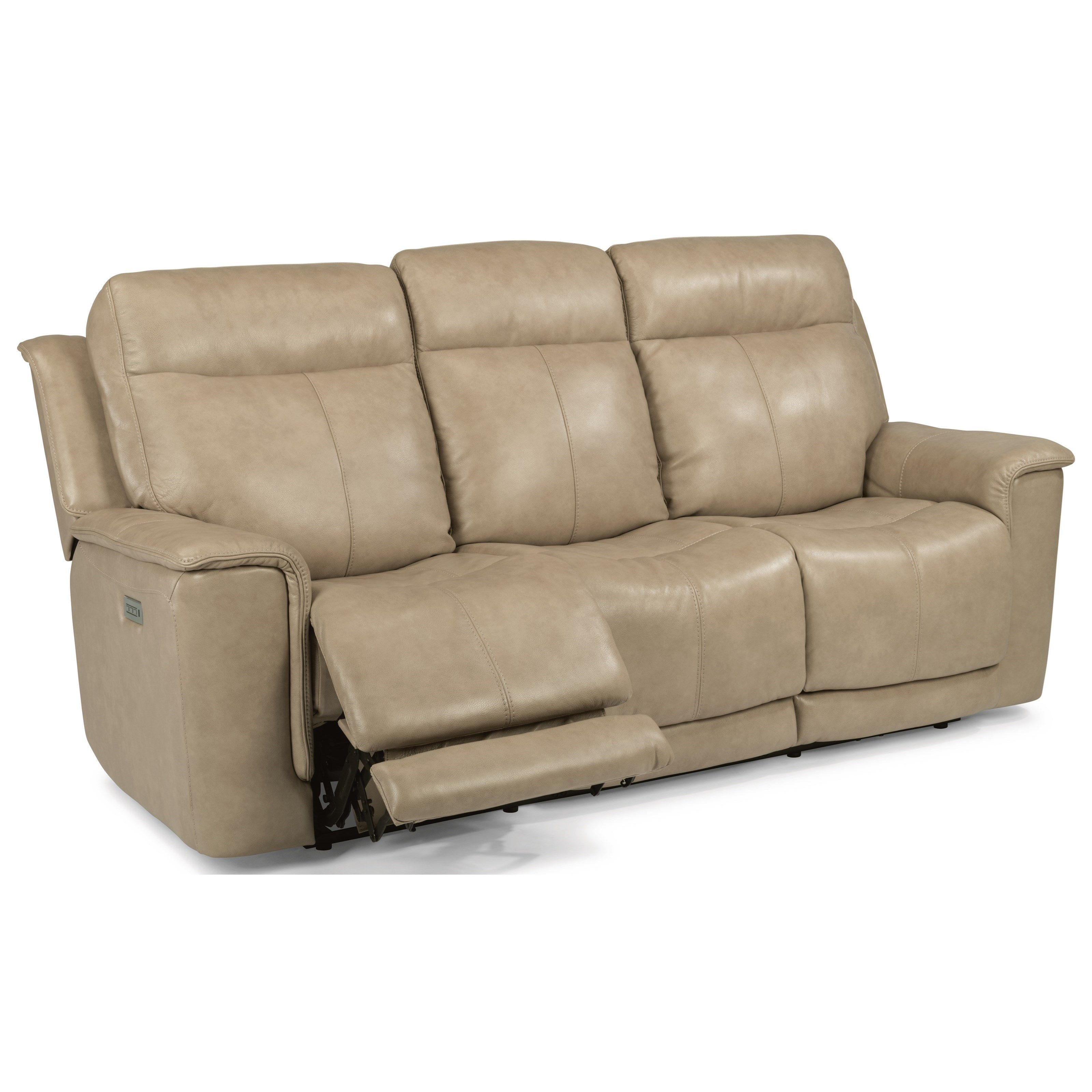 Clay Power Reclining Sofa With Power Headrests And Adjustable