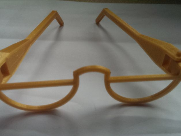6eb70f5329f Glasses for Harry Potter or a Gringotts Goblin for my sons Harry Potter  party. Modelled from scratch in OpenSCAD.