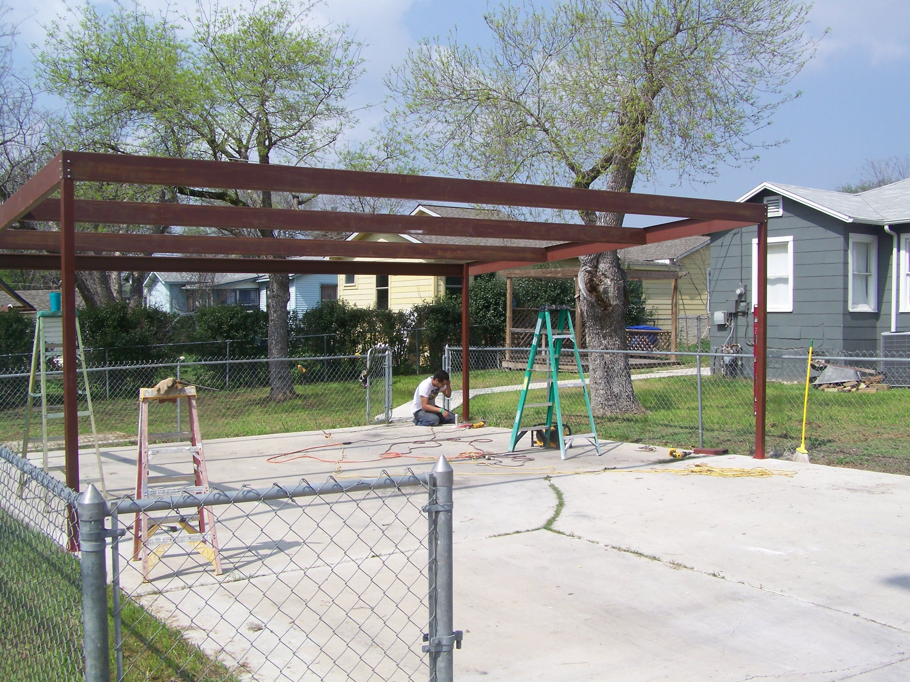 Carport designs google search carport designs pinterest metal two car carport north central san antonio solutioingenieria Image collections