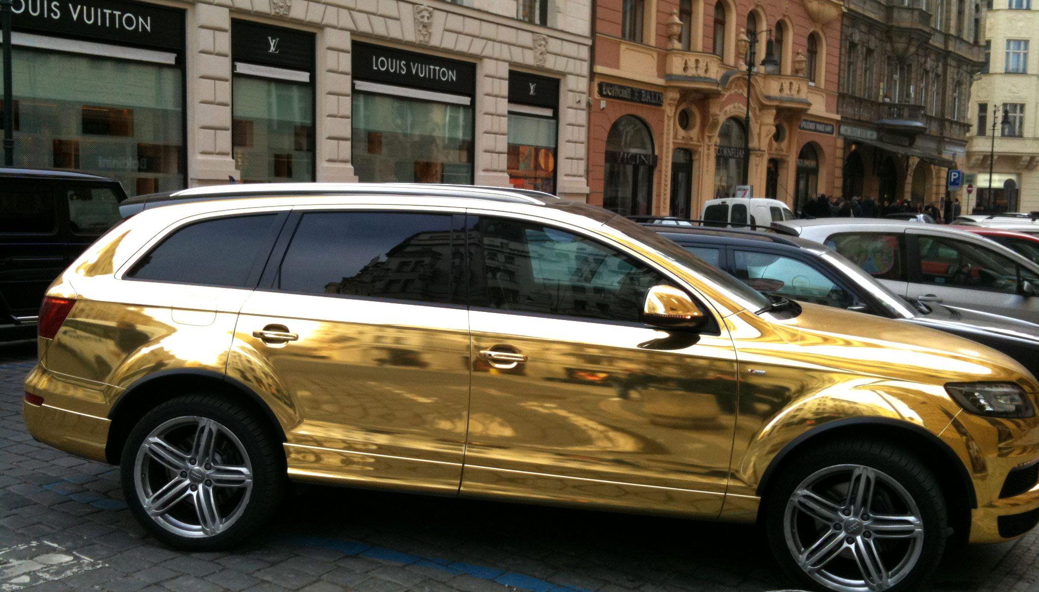 Audi q7 suv vossen wheels tuning cars wallpaper - Audi Q7 Gold Golden Audi Q7