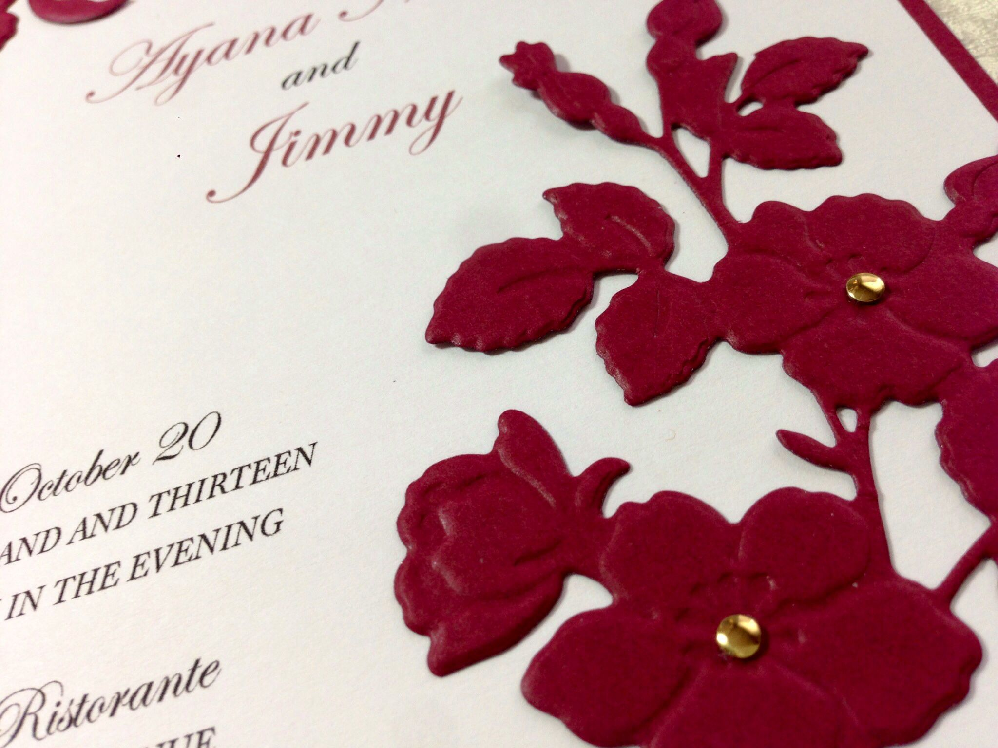 wedding renewal invitation ideas%0A Vow Renewal Invitation flower diecut detail  designed atThe PaperMint  my  crafting workshop