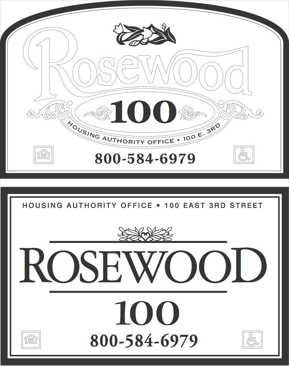 housing authority office sign for rosewood two designs submitted