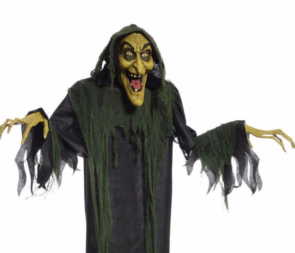 hanging witch 72 animated halloween prop haunted house yard decor scary horror ebay - Animated Halloween Decorations