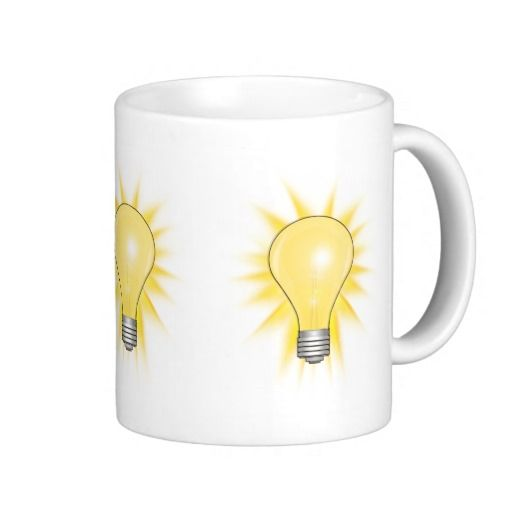 Light Bulb - Dim The Lights Mugs by #gravityx9  #brightidea #lightbulb #zazzle #mug #coffeemug