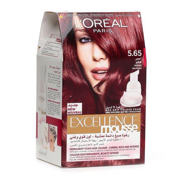 acheter loreal paris excellence mousse vrai rouge 565 couleur soin permanente riche et - L Oreal Coloration Rouge