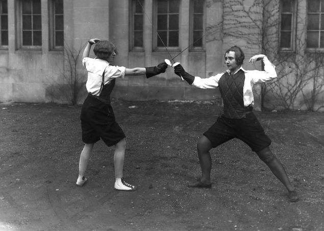 Two women fencing - 1929 #fencing #sport