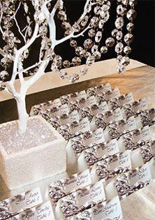 bling wedding themes crystals wedding escort cards wedding decor
