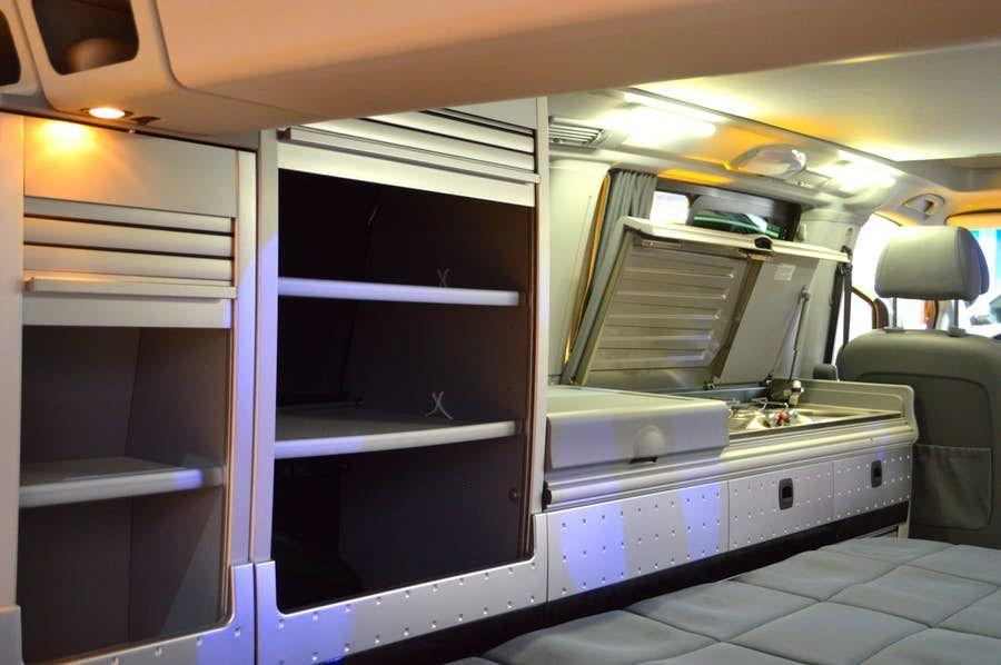 The Marco Polo offers driver side kitchen and storage equipment